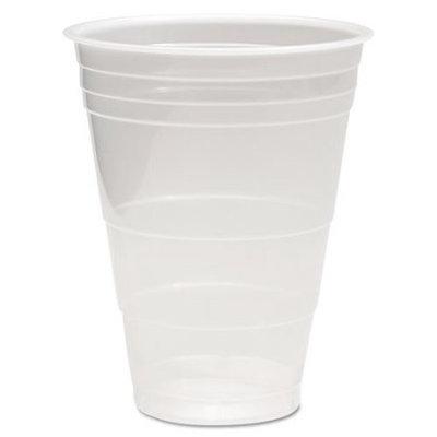 Boardwalk BWKTRANSCUP16PK Translucent Plastic Hot & Cold Cups; 16 oz.; 50 Per Pack