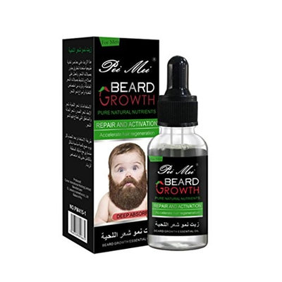 Lotus.flower Pei Mei Men Men Liquid Beard Growth Fast Enhance Facial Whiskers Nutrition Moustache 30ML