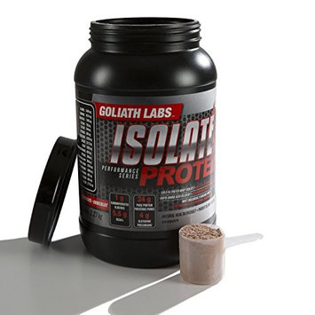 Goliath Labs Isolate Muscle Protein - 100% Cold Filtered Whey Protein - Rapid Amino Acid Delivery - Chocolate - 5 Pound Tub, 68 Servings