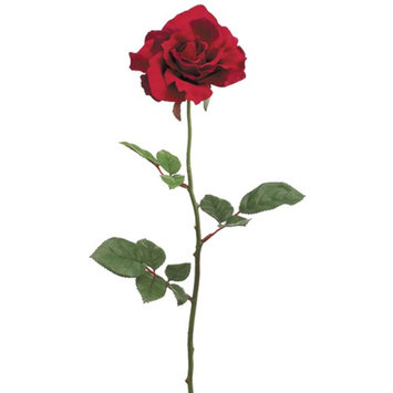 Club Pack of 24 Artificial Large Single Red Rose Silk Flower Sprays 27