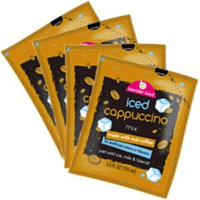 Blender Boyz Iced Cappuccino (Frappe) Mix - Single Serve Pouches - Pack of 4