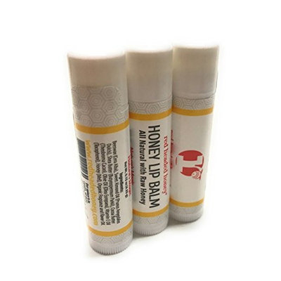 red headed honey's Honey Lip Balm-3 Pack-Natural Raw Honey- All Natural Ingredients!