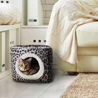 Trademark Global Games Cat Pet Bed Cave- Indoor Enclosed Covered Cavern/House for Cats Kittens and Small Pets with Removable Cushion Pad by PETMAKER