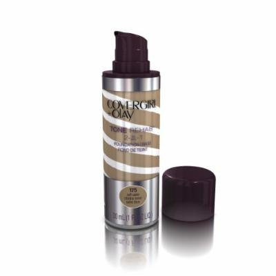 COVERGIRL and Olay Tonerehab 2-In-1 Foundation, Soft Sable 175, 1 Fluid Ounce