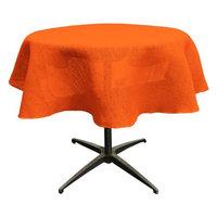 LA Linen TCBurlap58R-Orange Dyed Natural Burlap Tablecloth Orange - 58 in. Round