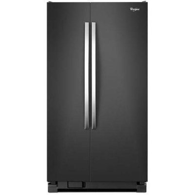 Black Ice Whirlpool(R) 25 cu. ft. Whirlpool(R) Side-by-Side Refrigerator with Greater Capacity