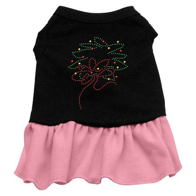 Mirage Pet Products 58-34 XXLBKPK Wreath Rhinestone Dress Black with Pink XXL - 18