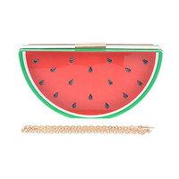 2Chique Boutique Women's Hard Case Watermelon Clutch