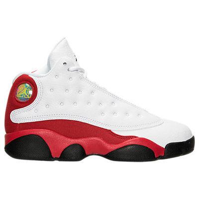 Nike Boys' Preschool Air Jordan Retro 13 Basketball Shoes, Boy's, White, 2259742