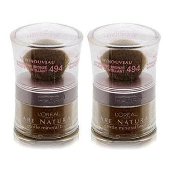 L'Oreal Bare Naturale Gentle Mineral Blush #494 Shimmering Bronze (Qty, of 2 Full Size Jars)