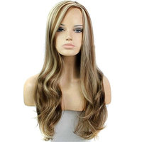 BESTLEE 30 Inch P12/613# Side Part Natural Wave Machine Made Heat Resistant Costume Party Wig