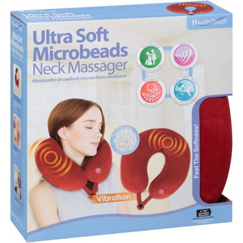 Leader Light Limited Health Touch Ultra Soft Microbeads Neck Massager, Red
