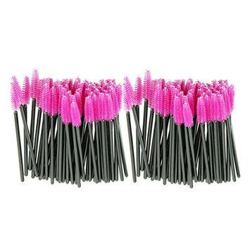 Eyelash Brush,Rucan 100pcs/lot make up brush Pink synthetic fiber One-Off Disposable Eyelash Brush