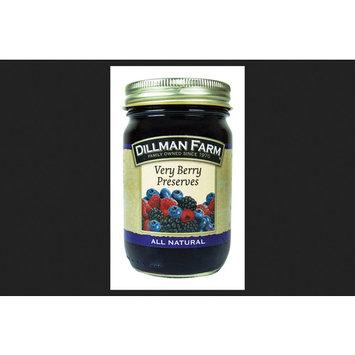 Dillman Farm All Natural Raspberries, Blueberries, Blackberries Preserves 16 oz. Jar