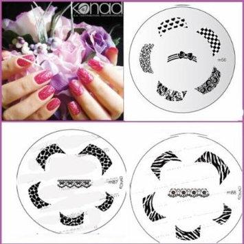 Bundle 5 Items: Konad New Images Plate M87,m88,m56+ Stamper & Scraper+ A-viva Eco Nail File