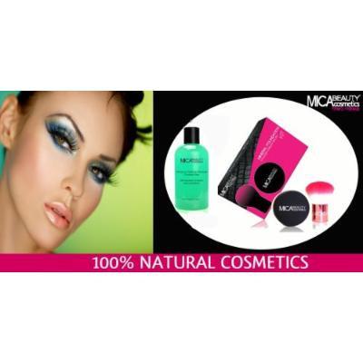 Mica Beauty Kit Mineral Foundation MF6 Cream Caramel+Kabuki Brush+Makeup Remover + A-viva Nail Kit (Buffer, File, Pink Box)