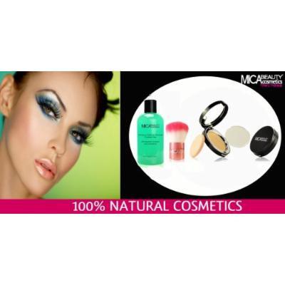 Bundle 4 Items: Mica Beauty Mineral Pressed Foundation Mf5 Cappuccino+kabuki Brush+makup Remover + Nail Kit (Buffer, File, Pink Box)