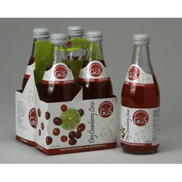 Gus Grown-Up Soda, Dry Cranberry Lime, 4 x 12.00 OZ (Pack of 6)