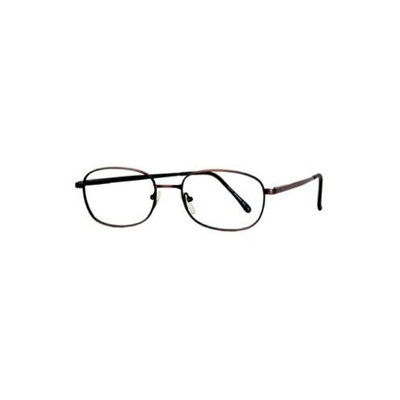 Davis Mens Eyeglasses Antique Brown Frames