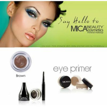 Mica Beauty Cosmetics Mineral Makeup Gel Eyeliner Brown, Eye Primer, Aviva Eco Nail File