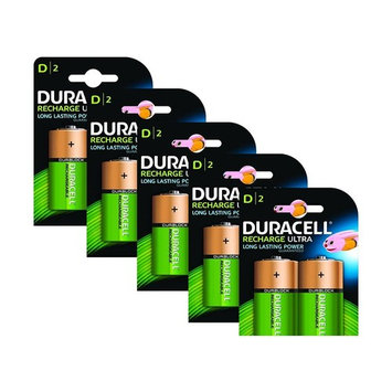 Duracell Rechargeable Ultra D Size Batteries - Pack of 10