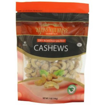 Kleins Natural's Dry Roasted Salted Cashews, Cashew Nuts, Dry Roasted Nuts, Gourmet Lightly Salted Nuts, Quick Healthy Snacks, 7-Ounce (Pack of 3)