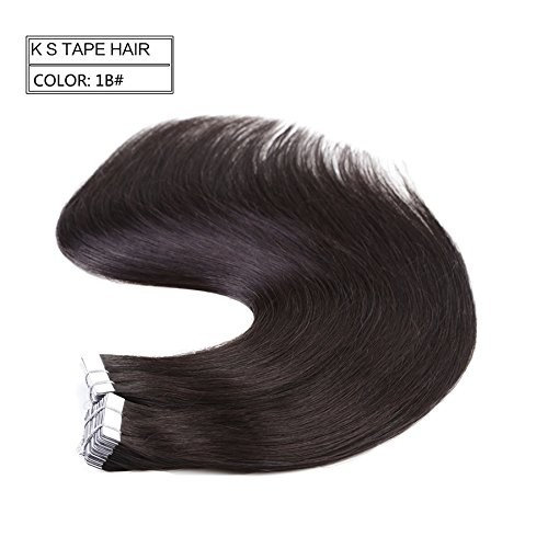 """Neitsi 20"""" 50g 20pcs/lot Tape in Human Hair Weft Extension Straight Glue Hair Weft Ombre Two Tone (1B#)"""