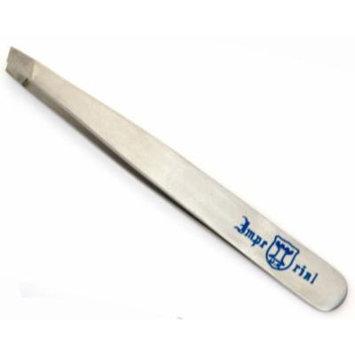 Eyebrow Tweezers Stainless Steel Slant Tip Finish -SS by razorzman
