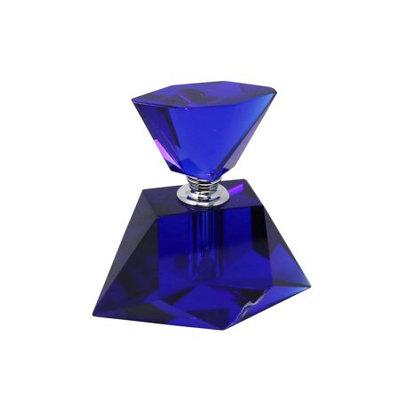Benzara Lovely Blue Crystal Perfume Bottle