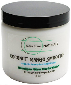 Neuclipse Frizzy Hair Shoppe Naturals Coconut Mango Smoothie (New Era for Curls) Natural Hair Leave-in Conditioner and Moisturizer with Organic Coconut Oil and Mango Butter