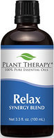 Plant Therapy Relax Synergy (Mental Relaxation) Essential Oil Blend. Blend of: Lavender