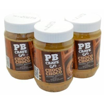PB Crave Natural Peanut Butter, Choco Choco, 16oz Jars, (Pack of 3)