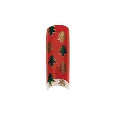 Cala Professional Holiday Design Airbrushed Nail Tips # 87-782 + A-viva Eco Nail File