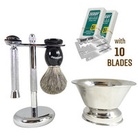 Barbero Shaving Kit with Shave Bowl & 10 Free Blades