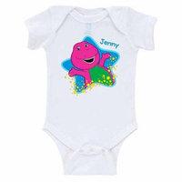 Personalized Barney Starlight Starbright Baby White Creeper