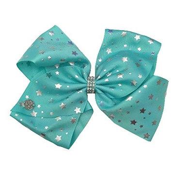Girls' JoJo Siwa Silver Stars Bow Hairclip - Mint Green Mint Green