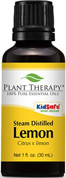 Plant Therapy Essential Oils 30 ml 100% Pure Lemon Steam Distilled Essential Oil