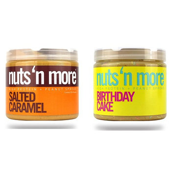 Nuts 'N More High Protein 2 Pack (16 oz each): Birthday Cake PB & Salted Caramel PB