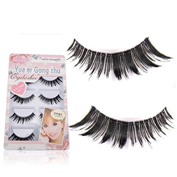 5 Pairs False Eyelashes,Elevin(TM) Women Girls New Japanese Style Handmade Long False High-quality Makeup Eyelashes