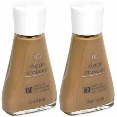 CoverGirl Clean Liquid Make Up #160 Classic Tan (Qty. Of 2 Bottles as shown In Image)LIMITED/Discontinued