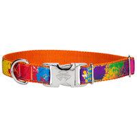 Country Brook Design® Premium Paint Splatter Ribbon on Orange Dog Collar