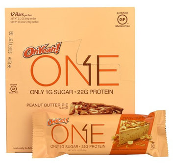 Oh Yeah ISS Research OhYeah!® ONE Protein Bar Peanut Butter Pie - 12 Bars pack of 2