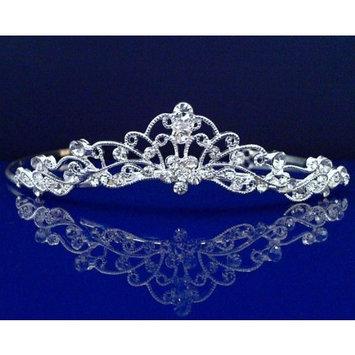 Rhinestone Bridal Wedding Prom Gold Crystal Tiara Crown 1003G