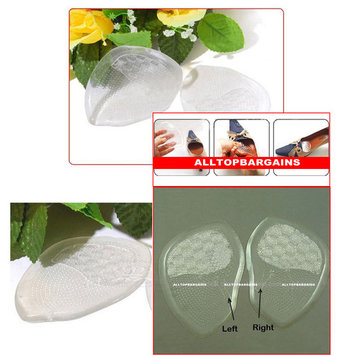 Gel Silicone Foot Half Sole Insoles Shoes Care Cushion Pad Insole Comfy 1 Pair