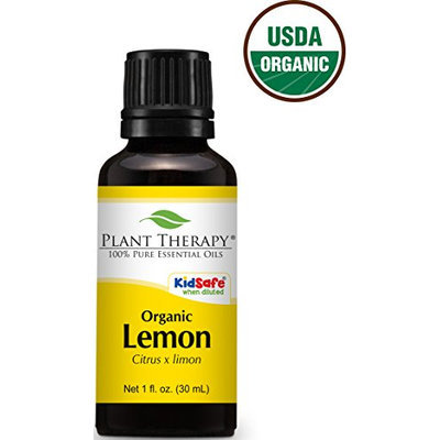 Plant Therapy USDA Certified Organic Lemon Essential Oil. 100% Pure