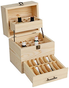 Plant Therapy Essential Oils Wooden Essential Oil Box Expanding Organizer