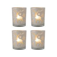 Pomeroy Reindeer Set Of 4 Pillar Holders 394607/S4