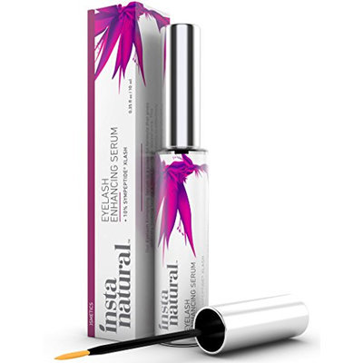 InstaNatural Eyelash & Eyebrow Boost Serum - Rapid & Fast Lash Care for Long