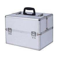 Giantex Pro Aluminum Makeup Train Case Jewelry Box Cosmetic Organizer
