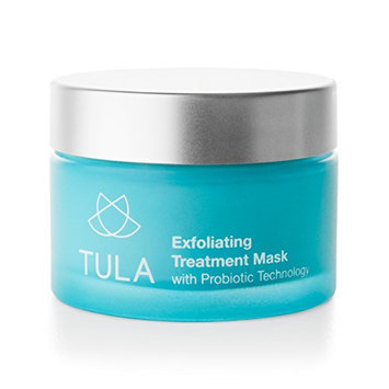 TULA Skin Care Exfoliating Dual Phase Treatment Mask with Hydrating Vitamin E/Probiotic Technology